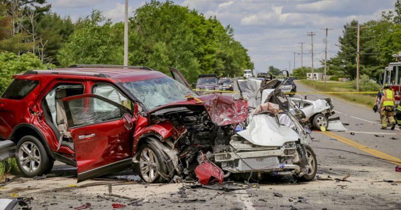 urmarile unui accident auto